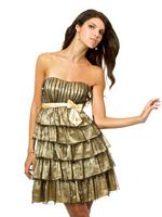 Val Stefani Short Party Dress with Tulle Layers TP1660 image