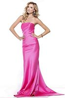 BG Haute Strapless Prom Dress with Chic Back Bow E19114 image