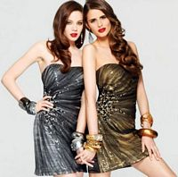 Faviana Glamour Short Trendy Sequin Dress with Tulle Overlay S6843 image