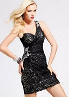 Faviana Glamour Animal Print Sequin Cocktail Dress S6844 image