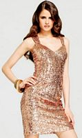 Faviana Short Sequin Glamour Dress with Cut-Out Back S6845 image