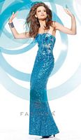 Faviana S7151 Glamour Sheer Corset Sequin Formal Dress image