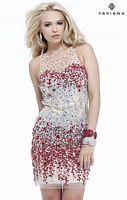 Faviana S7158 Glamour Jewel Illusion Cocktail Dress image