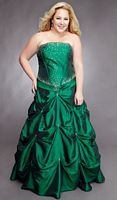 Sydneys Closet Plus Size Corset Ball Gown for Prom with Pickups SC3012 image