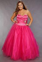 Sydneys Closet Plus Size Fuchsia Cinderella Ball Gown for Prom SC3014 image