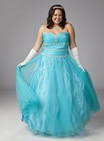 Plus Size Prom Dresses 2012 Sydneys Closet Ball Gown SC3035 image