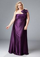 Size 18 Aqua Sydneys Closet One Shoulder Plus Size Prom Dress SC7044 image