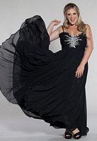 Size 16 Aqua Sydneys Closet SC7071 Plus Size Butterfly Bodice Dress image