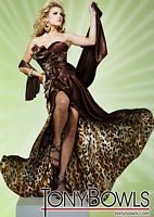 Tony Bowls Evenings Gown with Animal Print Lining TBE11260 image