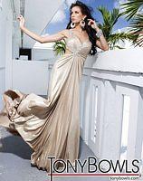 Tony Bowls Evenings Metallic Jersey Cutout Prom Dress TBE11261 image