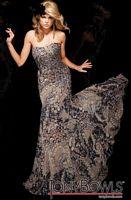 Tony Bowls Evenings Print Chiffon Evening Dress TBE21101 image