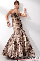 Tony Bowls Evenings Soft Satin Print Mermaid Evening Dress TBE21104 image