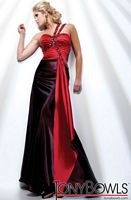 Tony Bowls Evenings Wine One Shoulder A-Line Dress TBE21107 image