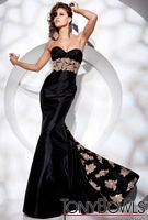 Tony Bowls Evenings Empire Taffeta Mermaid Evening Dress TBE21108 image