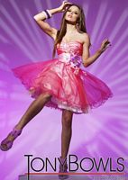 Tony Bowls Shorts Pink Multi Tulle Party Prom Dress TS11255 image