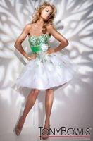 Tony Bowls Shorts Green Lace Short Party Dress TS21104 image