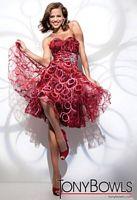 Tony Bowls Shorts Wine Print Organza Circle Skirt Party Dress TS21107 image