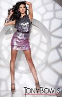 Tony Bowls Shorts Sleeveless Ombre Sequin Cocktail Dress TS21144 image