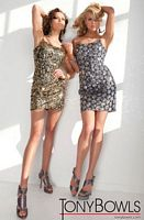 Tony Bowls Shorts Silver Sequin Sheath Cocktail Dress TS21149 image