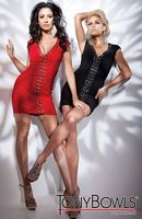 Tony Bowls Shorts Cap Sleeve Jersey V Neck Cocktail Dress TS21152 image