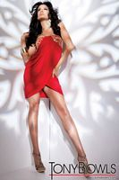 Tony Bowls Shorts Red Chiffon Cocktail Dress with Tulip Hem TS21153 image