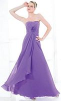 Val Stefani Strapless Long Chiffon Bridesmaid Dress VS9120 image
